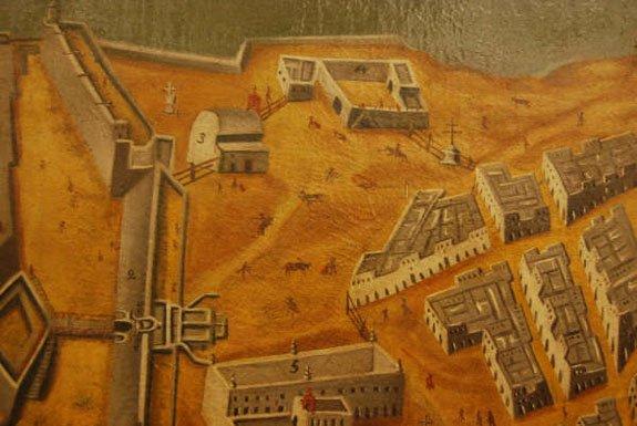 La restauración de un cuadro-mapa de Cádiz del s. XVII, muestra el inicio del Toreo a Pié