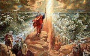 Moisés-separando-las-aguas-del-mar-Rojo