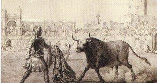César Borjia enfrentandose a un toro