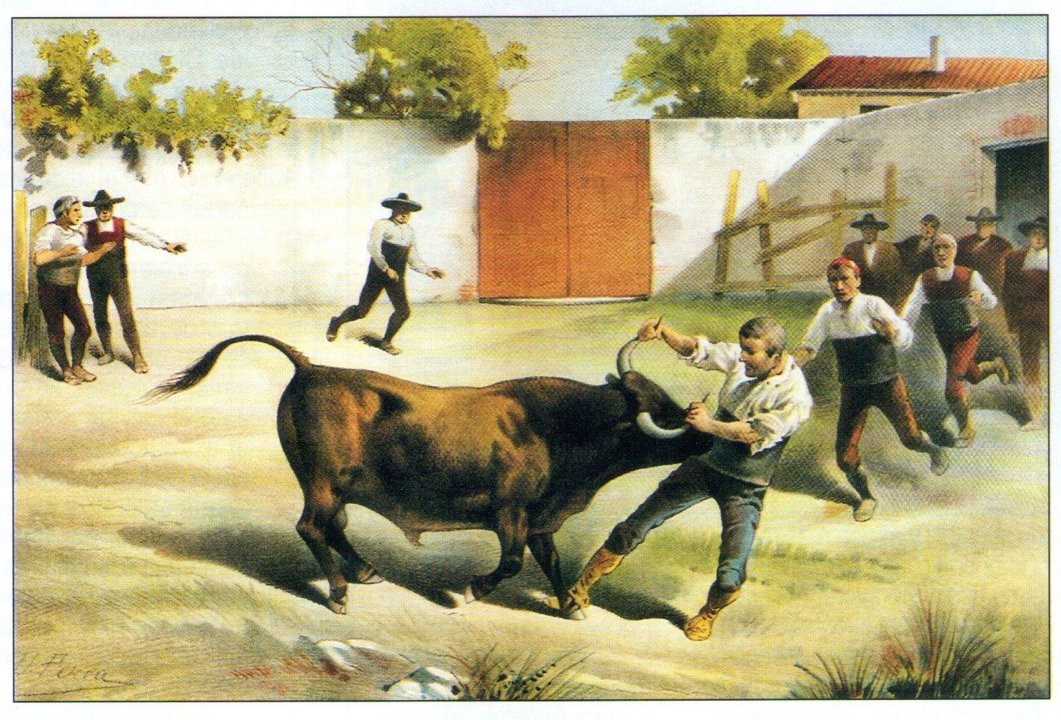 Mancornando al toro