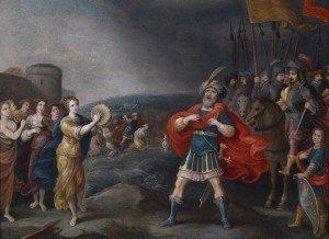 Jefté recibido por su hija, de Hieronymus Francker
