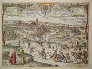 En el centro el Matadero de Sevilla, 1650